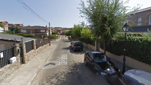 Calle Pastrana, urbanización El Coto, en El Casar
