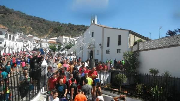 Fiesta de 'Los Jarritos' en Galaroza.