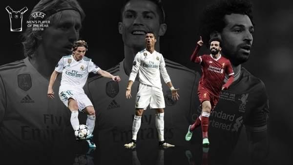 Modric, Cristiano Ronaldo y Salah, candidatos a Jugador del Año de la UEFA