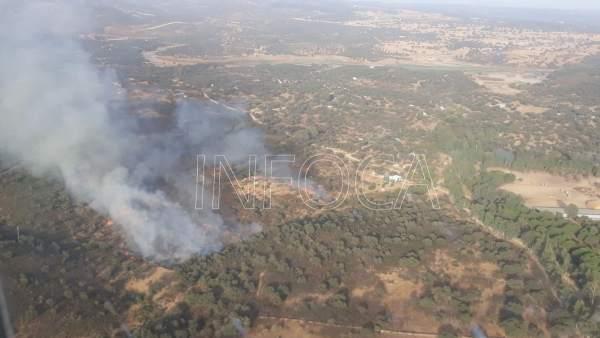 Incendio forestal en El Ronquillo (Sevilla)