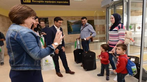 Llegada de pasajeros al aeropuerto de Granada