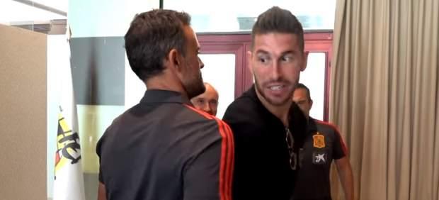 Sergio Ramos y Luis Enrique