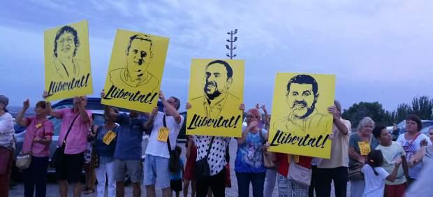 Cadena humana por los presos soberanistas en Lleida