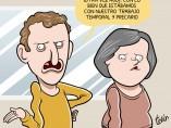 Sube el paro, viñeta de Álvaro Terán