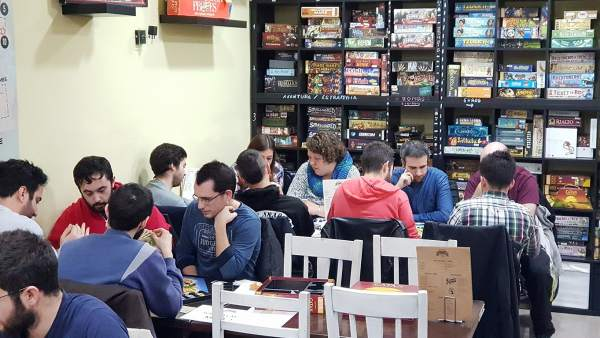 El Epic Board Game Cafe de Madrid.