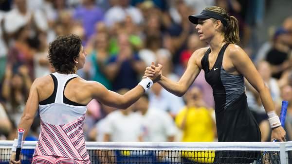 Carla Suarez se impone a Maria Sharapova en el US Open