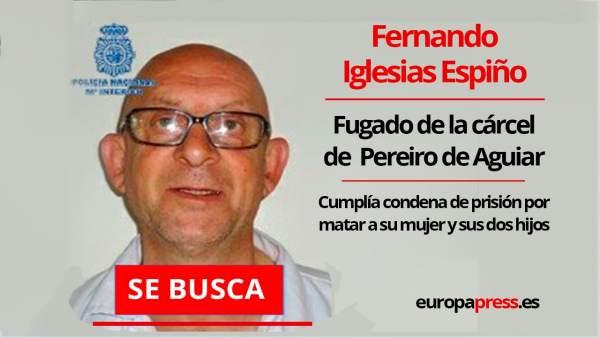 La Policía Nacional busca a un preso fugado de Ourense