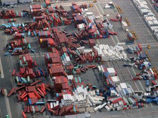 Las imágenes de los destrozos del tifón Jebi en Japón