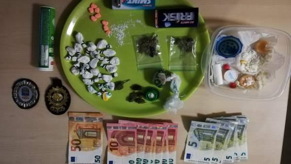 Drogas incautadas por la Policía en Ibiza