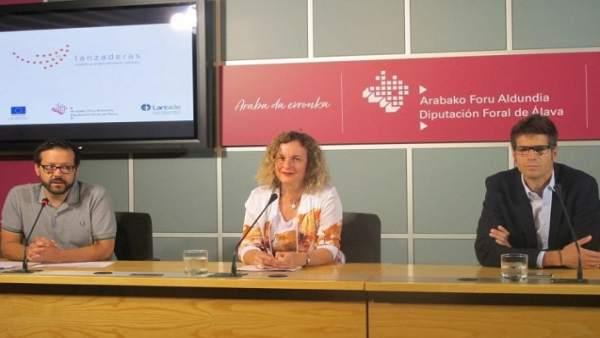 Presentación de las nuevas lanzaderas de empleo en Álava