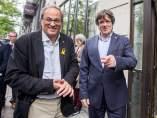 Quim Torra y Carles Puigdemont en Bruselas.
