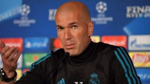Zinedine Zidane, en su etapa como entrenador del Real Madrid.