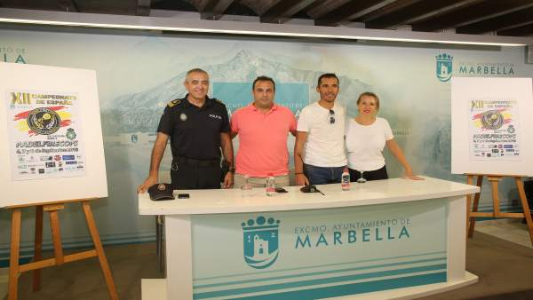 Presentación del Padelfirecops en Marbella