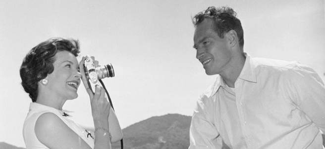 Charlton Heston y Lydia Clarke
