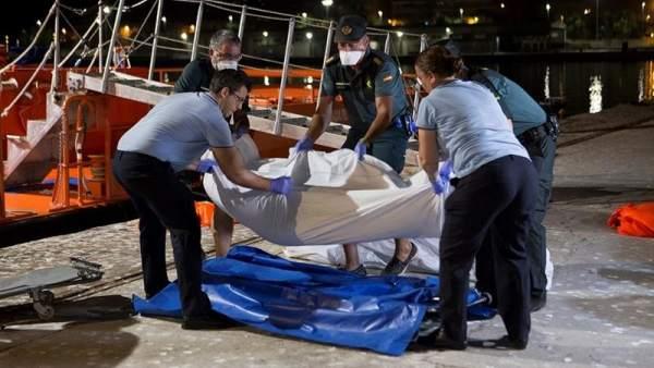 Inmigrantes muertos en aguas andaluzas