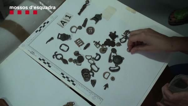 Tres detenidos por expoliar yacimientos arqueológicos en Tarragona
