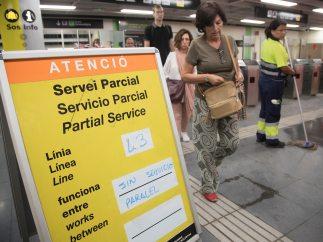 Tramo de metro interrumpido
