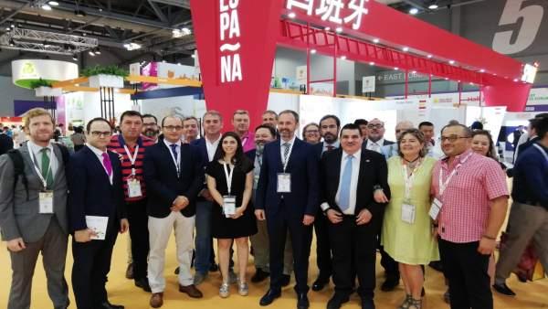 Imagen de la parte de la delegación de la Región de Murcia