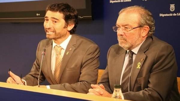 El Conseller De Políticas Digitales , Jordi Puigneró Y  Joan Reñé