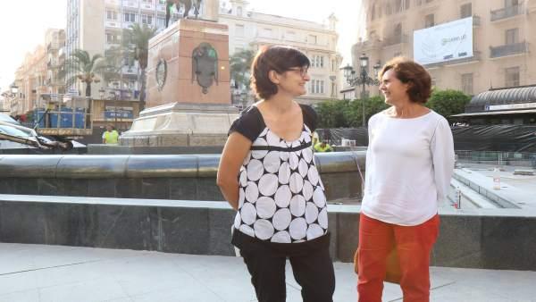 Visita a la fuente de la Plaza de las Tendillas