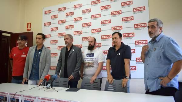 Rueda de prensa de CCOO sobre Vestas