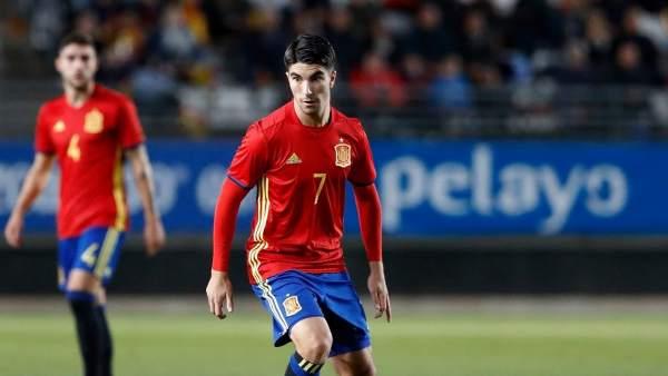 Carlos Soler, con la camiseta de España sub 21.