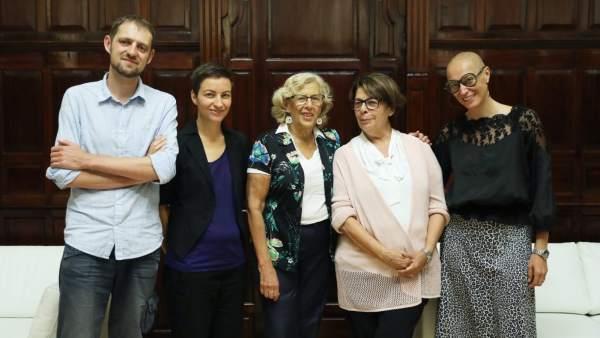 Con la Carmena con la copresidenta del grupo de Los Verdes