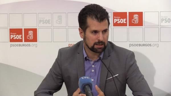 El portavoz del Grupo Socialista en las Cortes, Luis Tudanca. 7-9-2018