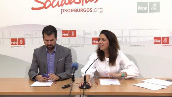 Tudanca y Esther Peña