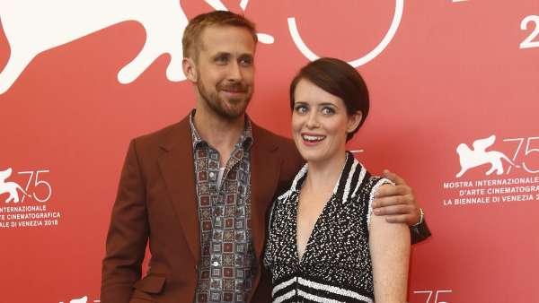 Ryan Gosling y Claire Foy, en la Mostra de Venecia.