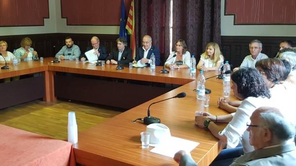 El conseller Josep Bargalló, en Ripoll