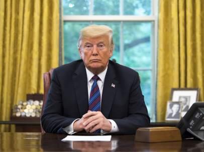El presidente de EE UU, Donald Trump, en el Despacho Oval.