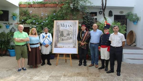 Presentación de la represeneción histórica en Mijas