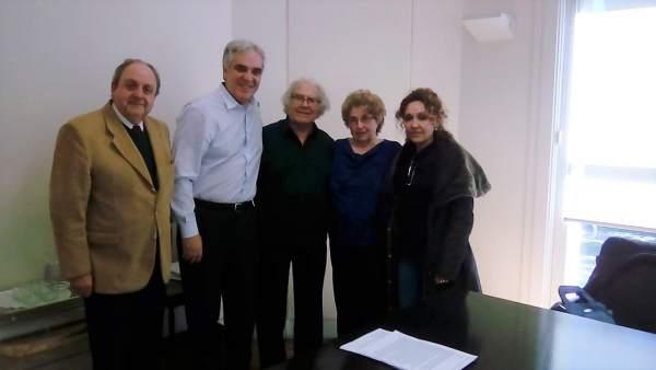 Reunión de Pérez Esquivel con el embajador de España en Argentina, Sandomingo.