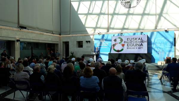 Iñogo Urkullu en el acto dedicado a la diáspora vasca