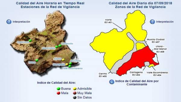 Activado el nivel 2 por superación del nivel de partículas en La Aljorra