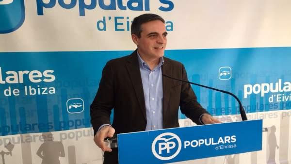 José Vicente Marí, PP de Ibiza durante la rueda de prensa