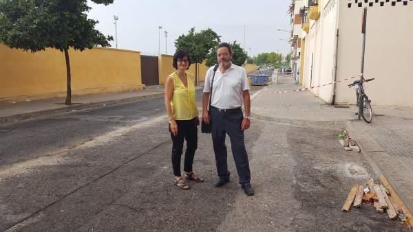 Amparo Pernichi en la calle Periodista Ricardo Rodríguez