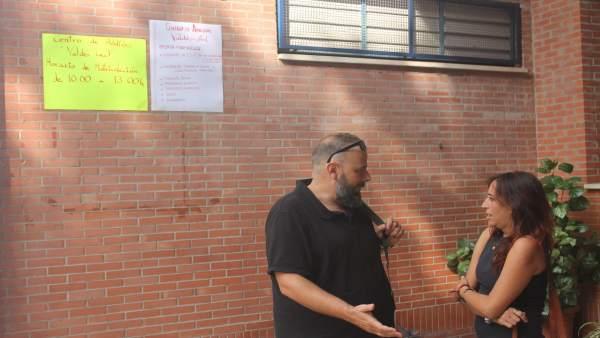 Visita de Cristina Honorato al CEIP Valdés Leal