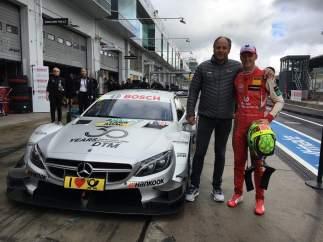 Gerhard Berger y Mick Schumacher
