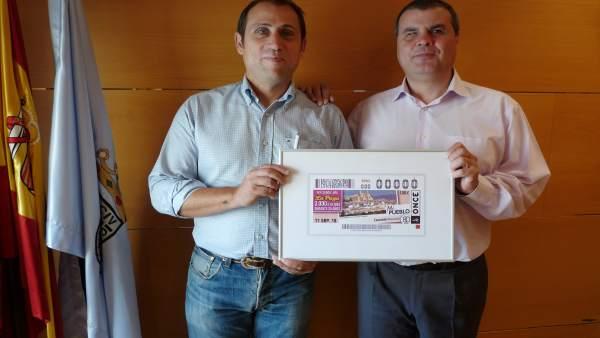 Presentación del cupón de la ONCE dedicado a Cascante