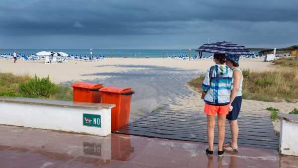 Lluvia en Menorca.