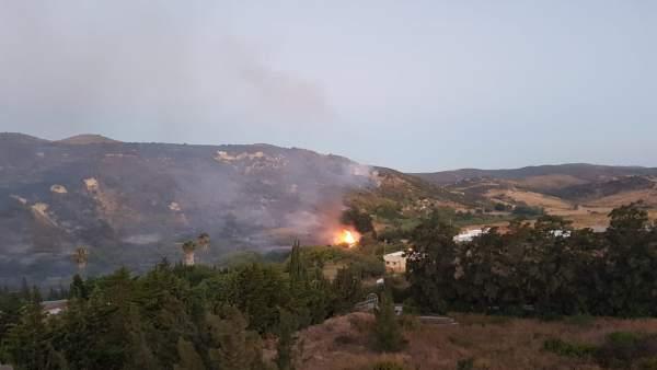 Incendio en Manilva