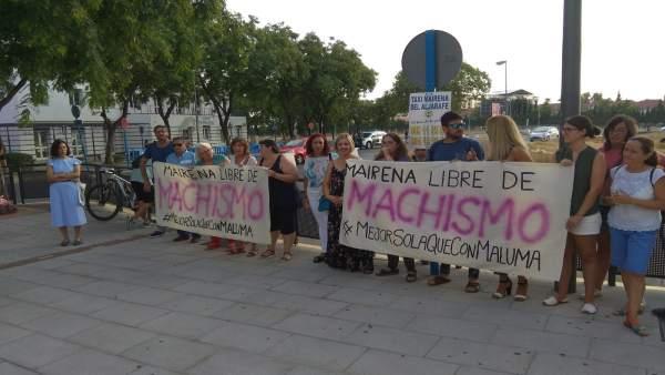 Protesta contra concierto de Maluma en Mairena del Aljarafe (Sevilla)