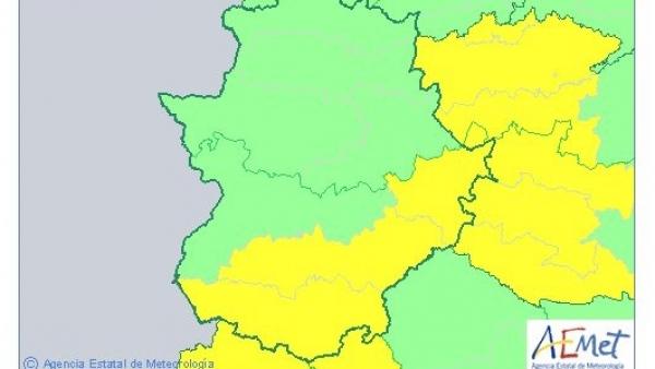 Avisos por lluvias y tormentas en la provincia de Badajoz