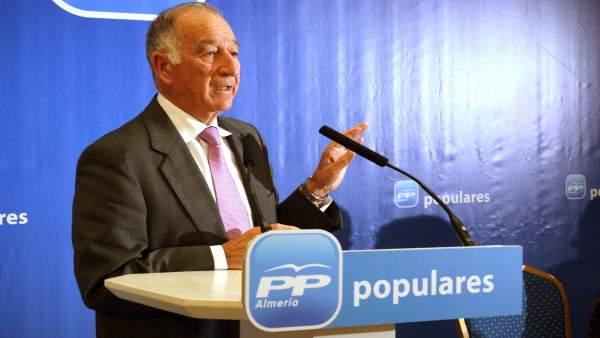 El presidente del Partido Popular de Almería, Gabriel Amat