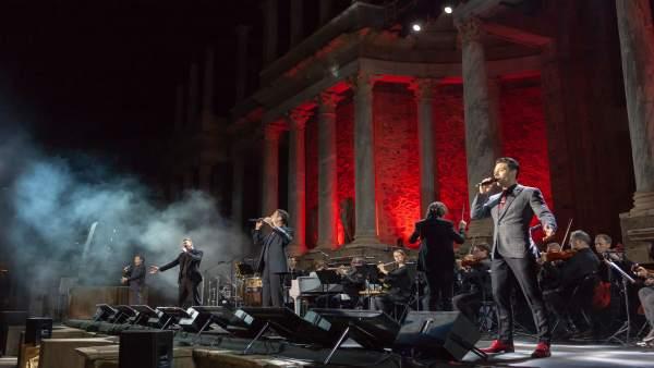 Il Divo en su concierto en el Teatro Romano de Mérida