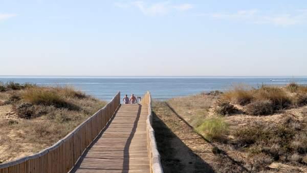 Turistas en Huelva.