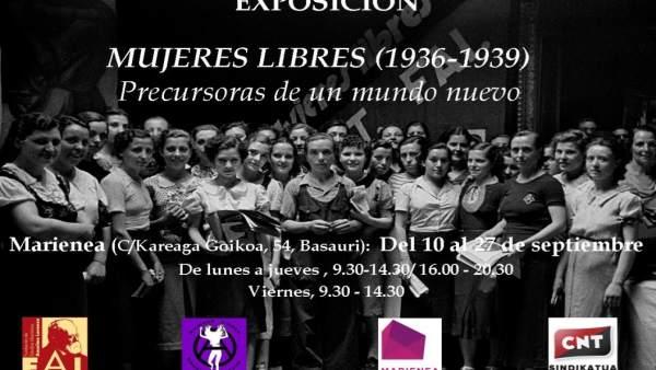 Cartel de la exposición 'Mujeres libres 1936-39'