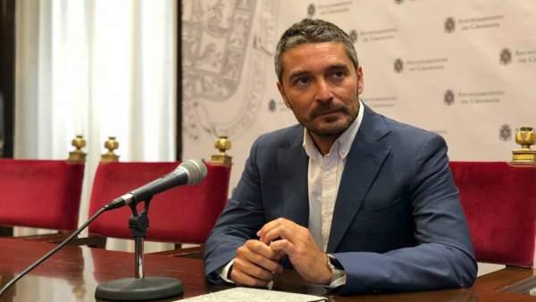 El portavoz de Cs en el Ayuntamiento de Granada, Manuel Olivares
